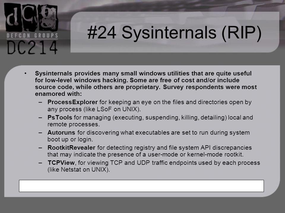#24 Sysinternals (RIP)
