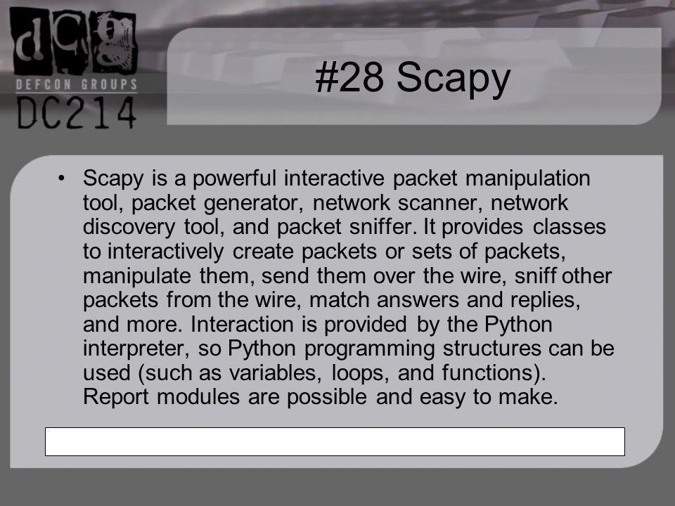 #28 Scapy