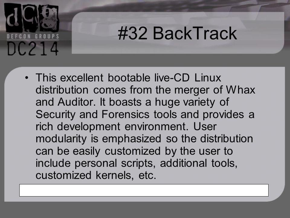 #32 BackTrack