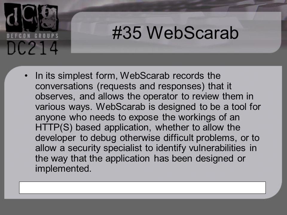 #35 WebScarab