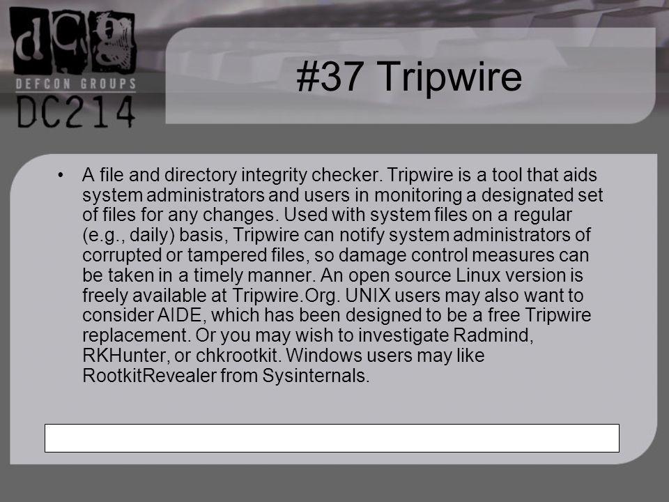 #37 Tripwire