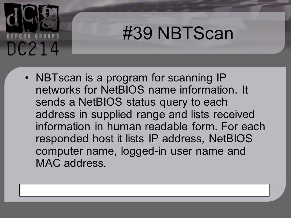 #39 NBTScan
