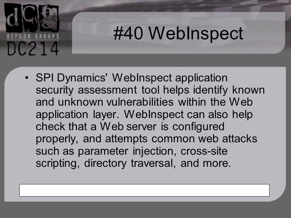 #40 WebInspect