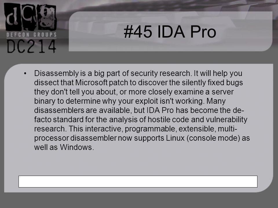 #45 IDA Pro
