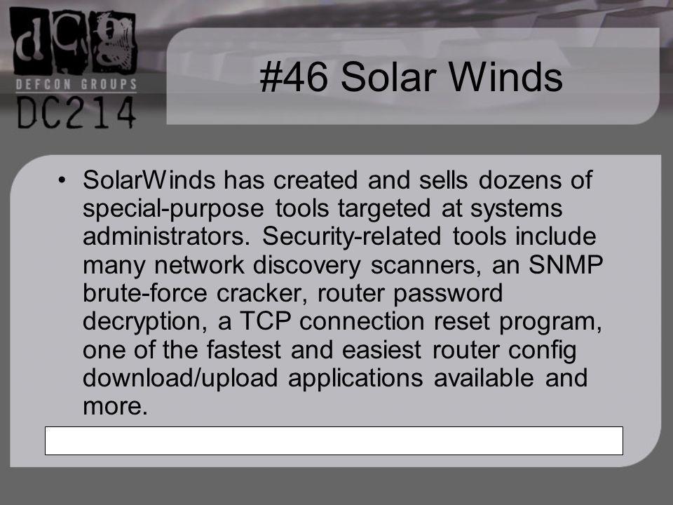 #46 Solar Winds