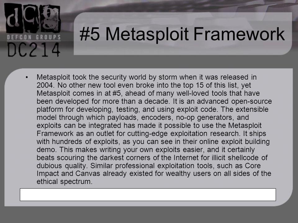 #5 Metasploit Framework
