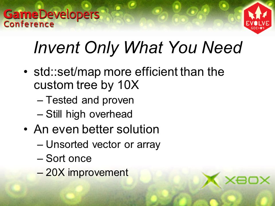 Invent Only What You Need