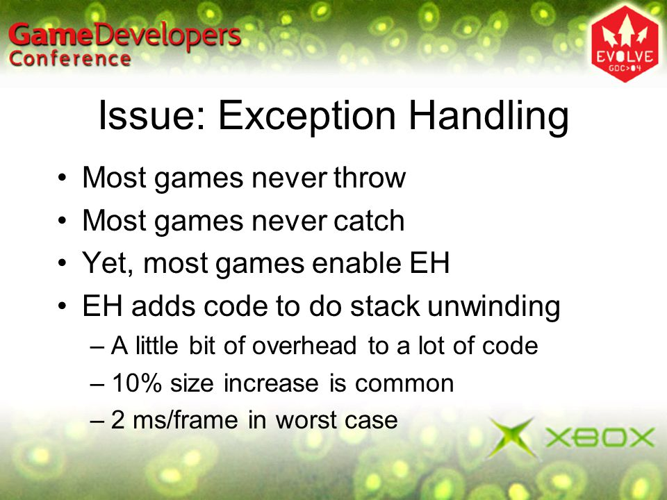 Issue: Exception Handling