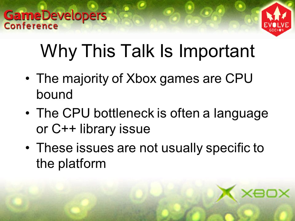 Why This Talk Is Important