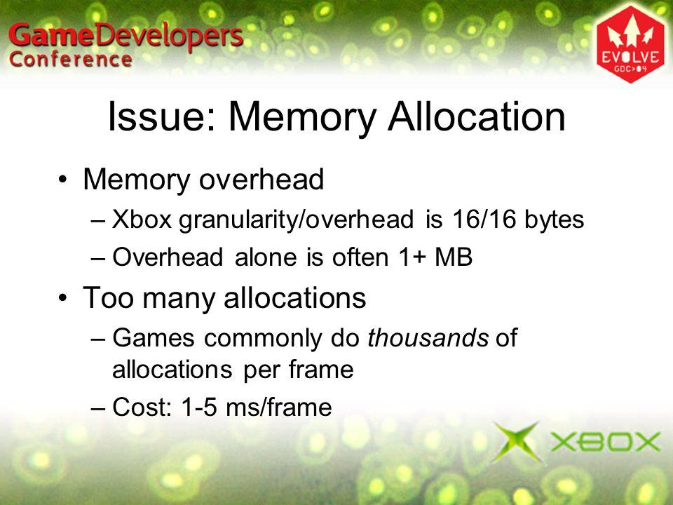 Issue: Memory Allocation