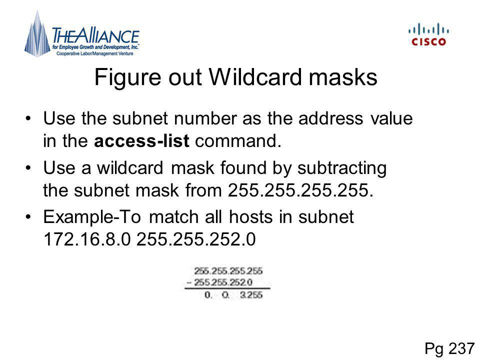 Figure out Wildcard masks