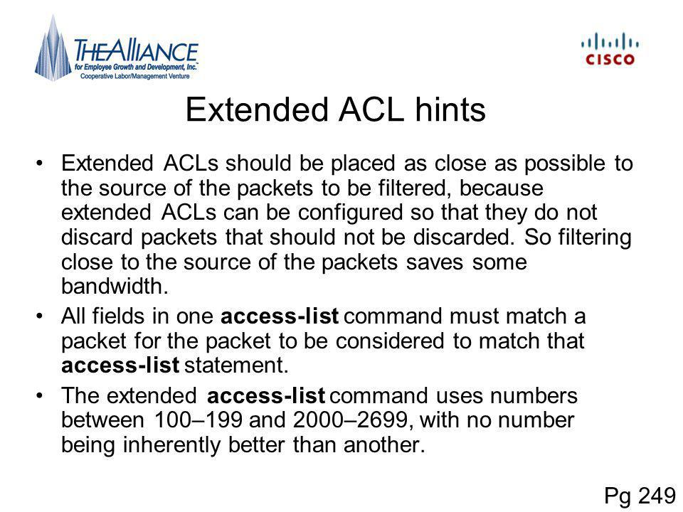 Extended ACL hints