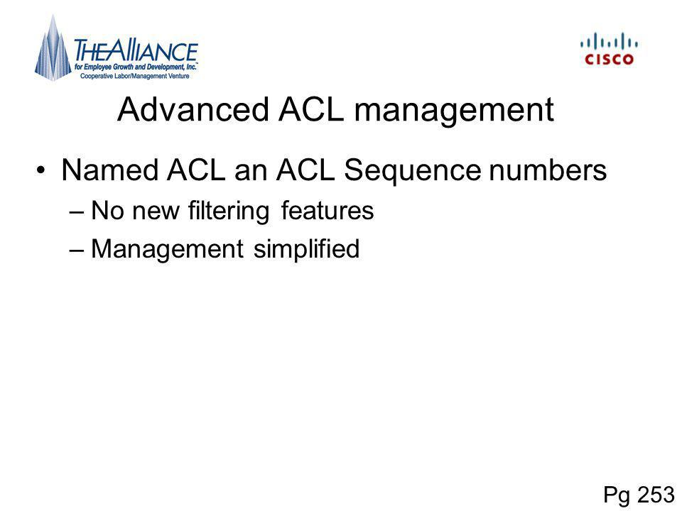 Advanced ACL management
