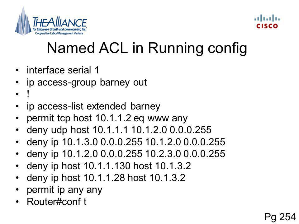 Named ACL in Running config