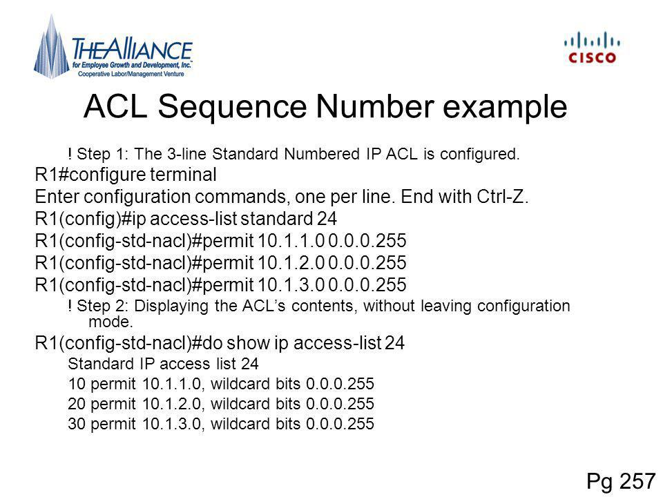 ACL Sequence Number example