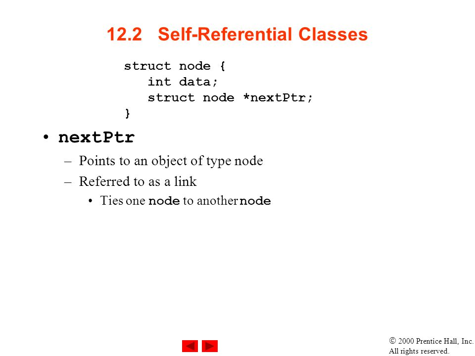 12.2 Self-Referential Classes