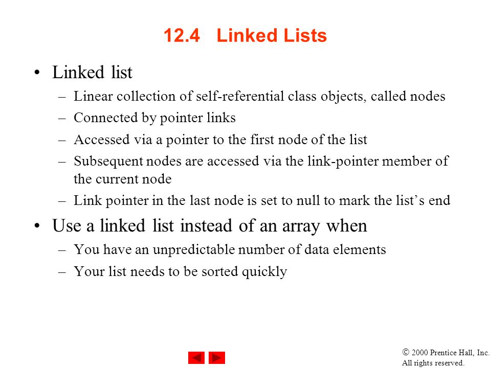 Use a linked list instead of an array when