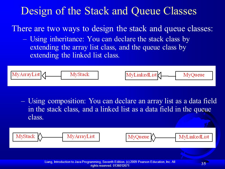 Design of the Stack and Queue Classes