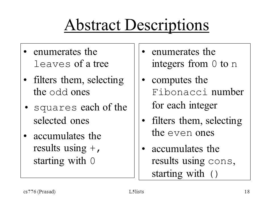 Abstract Descriptions