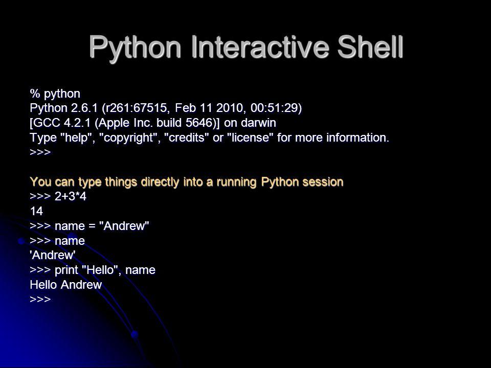Python Interactive Shell