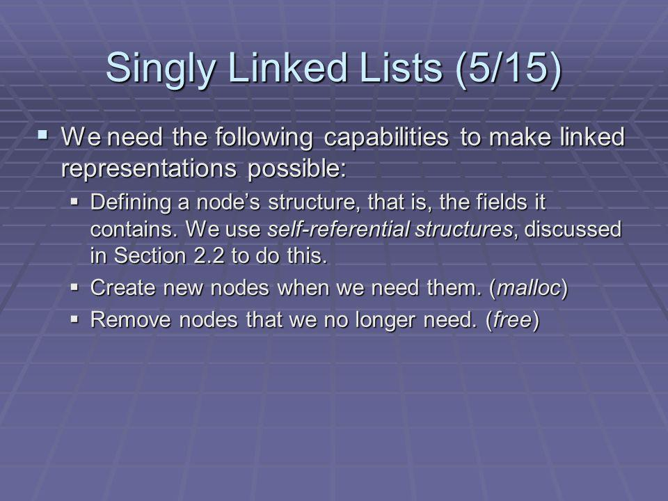Singly Linked Lists (5/15)