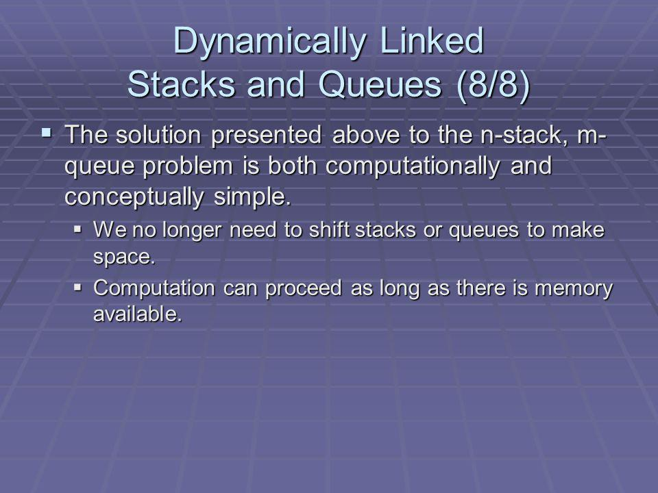 Dynamically Linked Stacks and Queues (8/8)