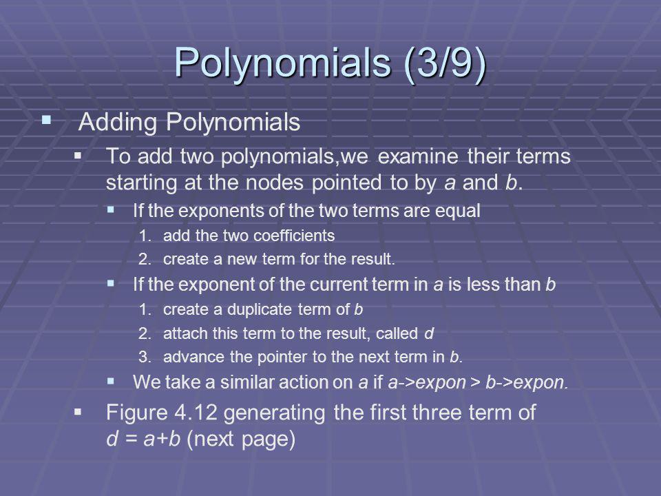 Polynomials (3/9) Adding Polynomials