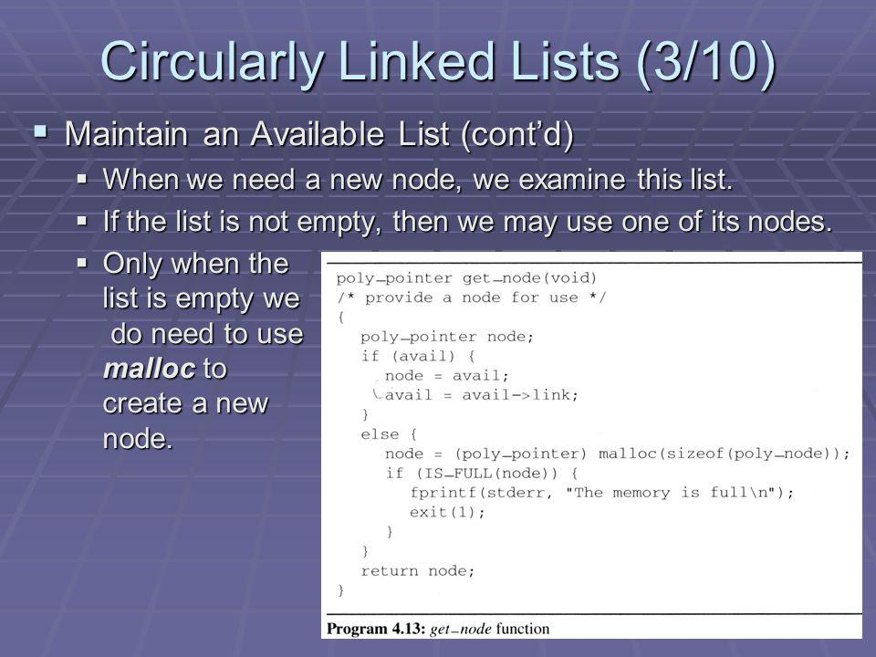 Circularly Linked Lists (3/10)