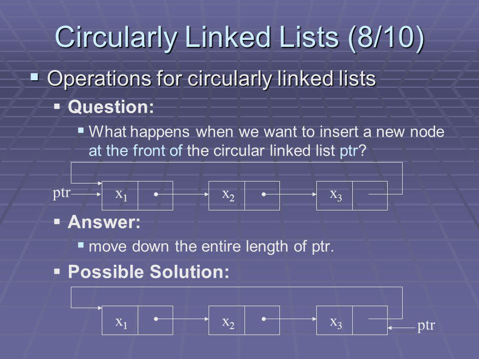 Circularly Linked Lists (8/10)