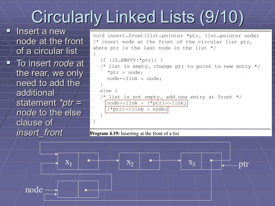 Circularly Linked Lists (9/10)