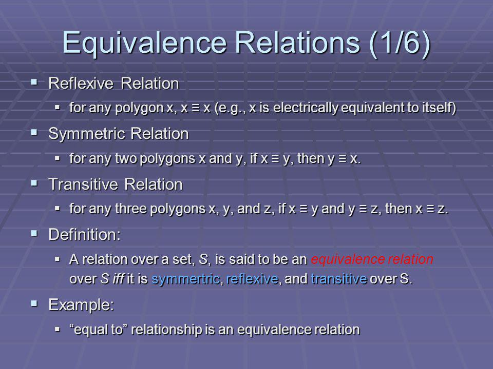 Equivalence Relations (1/6)