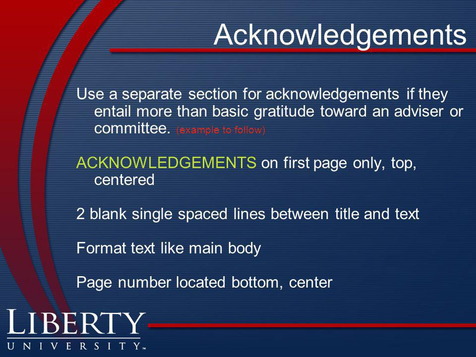 how to write acknowledgement for master thesis