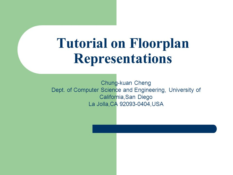Tutorial on Floorplan Representations