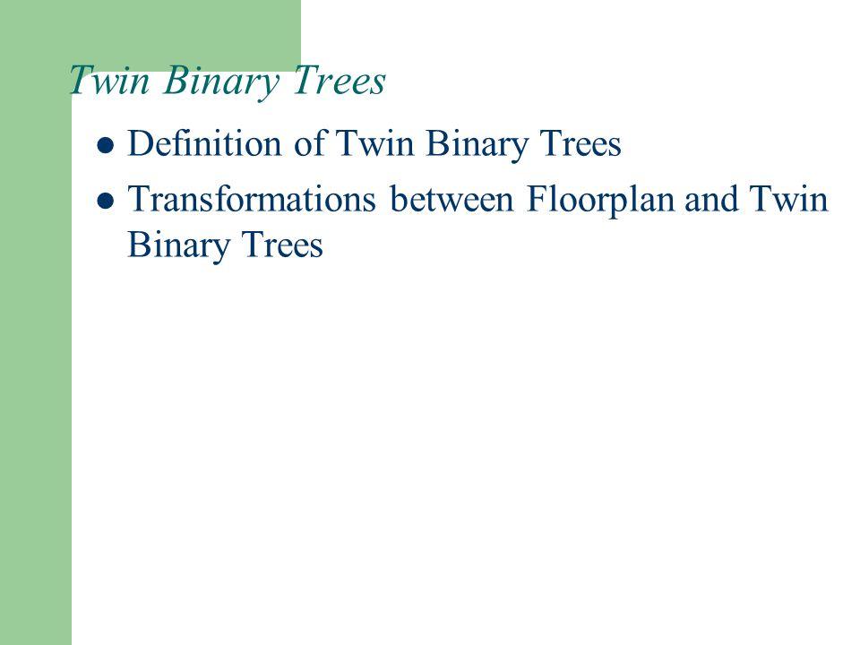 Twin Binary Trees Definition of Twin Binary Trees