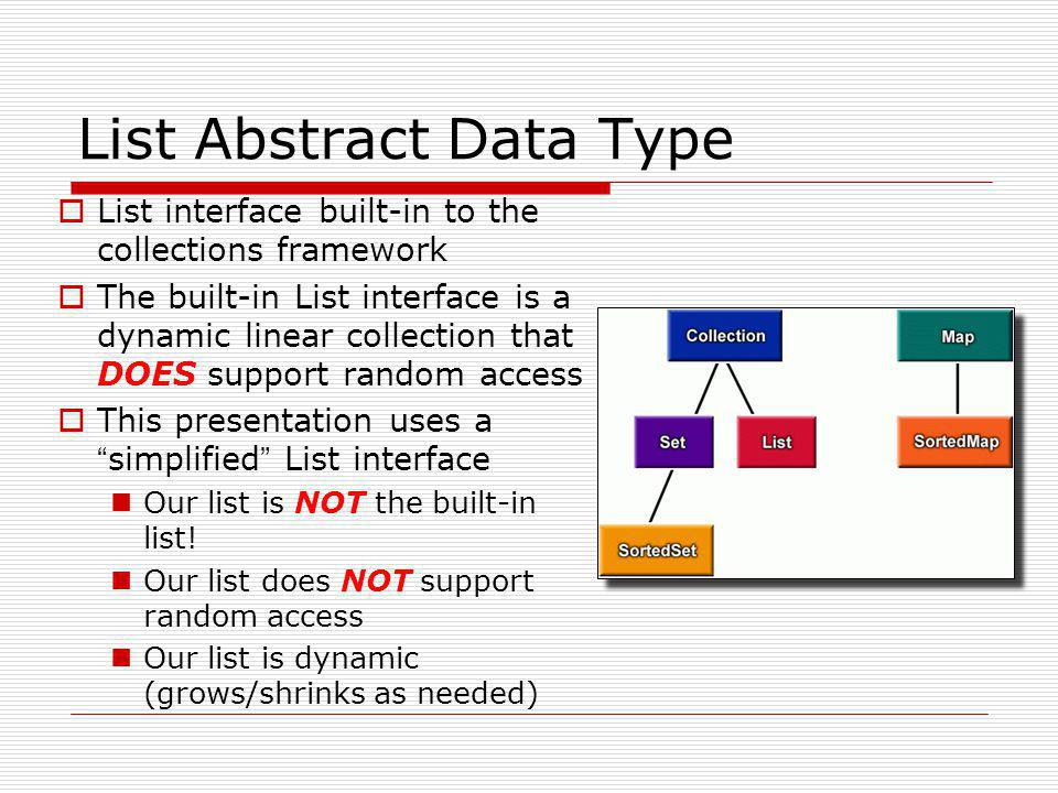 List Abstract Data Type
