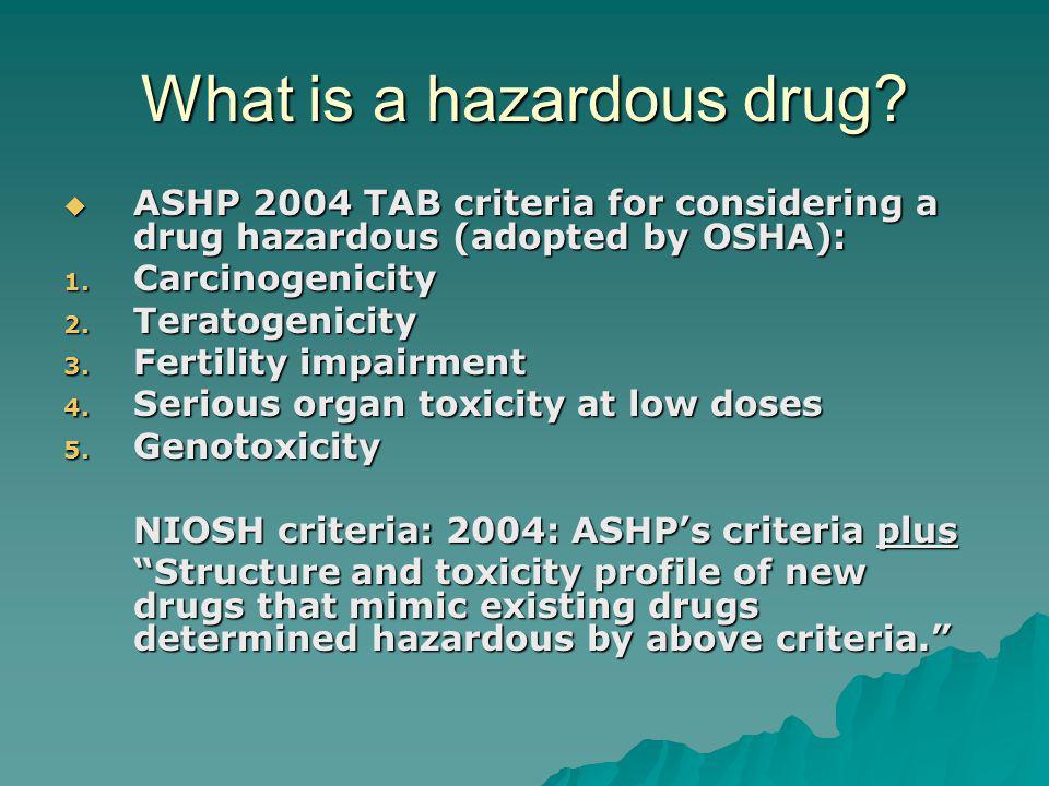 What is a hazardous drug