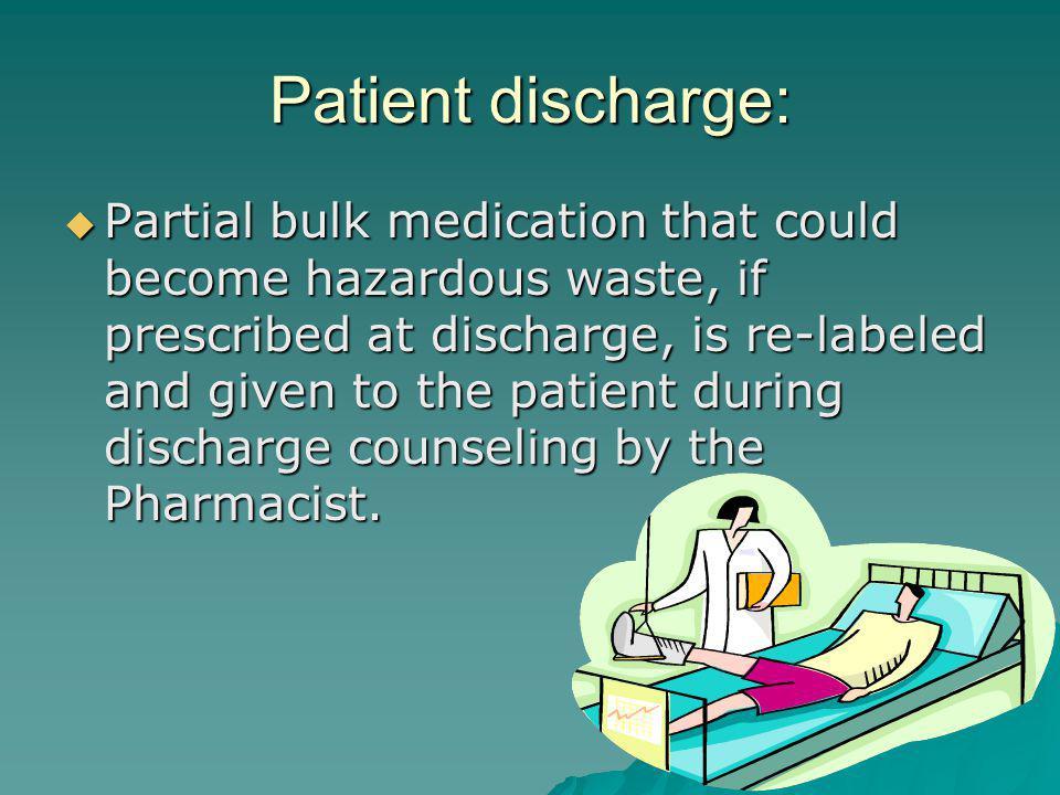 Patient discharge: