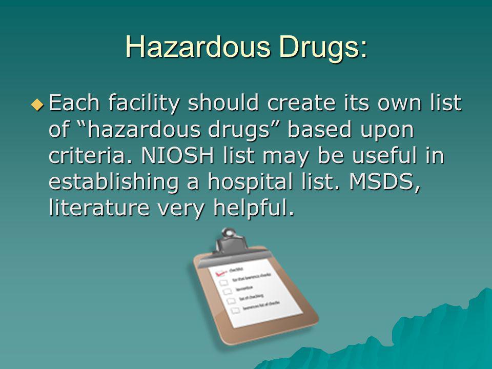 Hazardous Drugs: