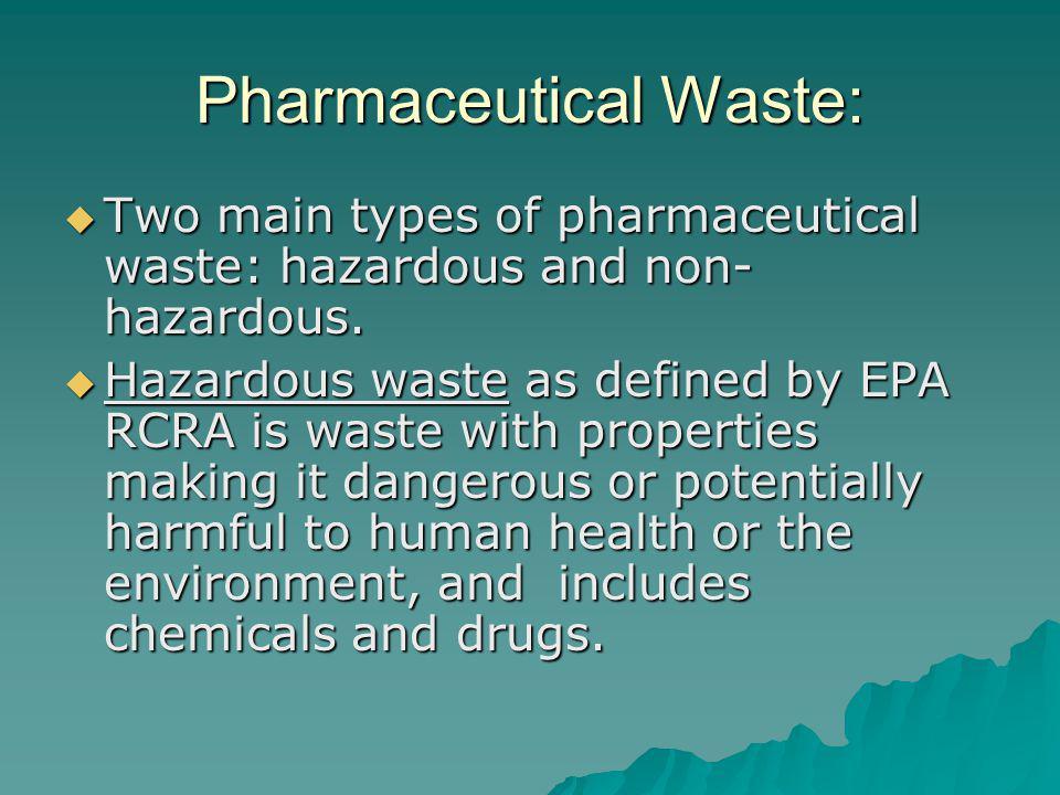 Pharmaceutical Waste: