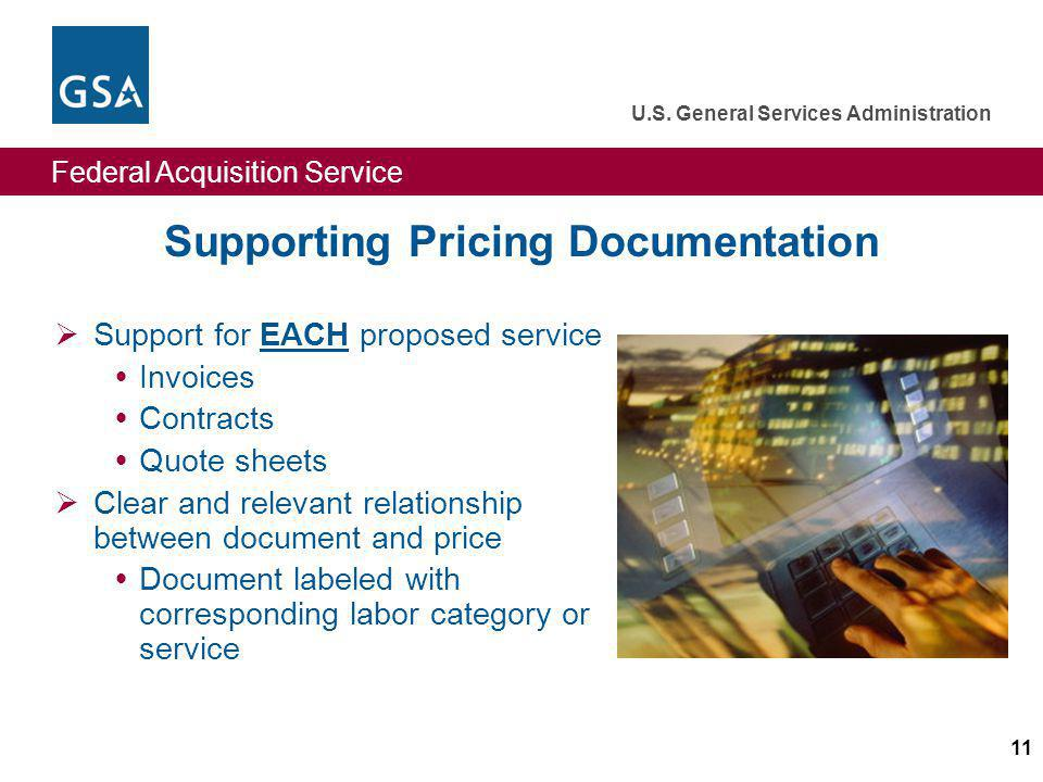 Supporting Pricing Documentation