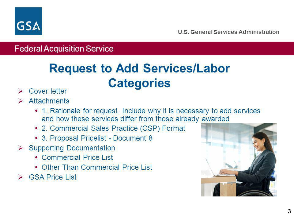 Request to Add Services/Labor Categories