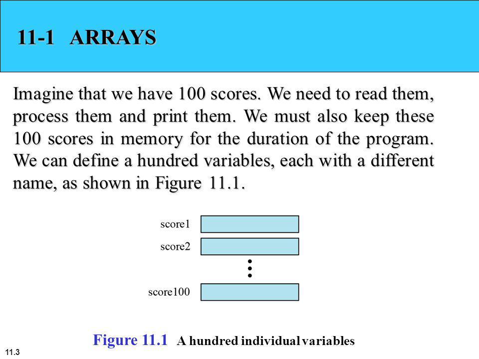 11-1 ARRAYS