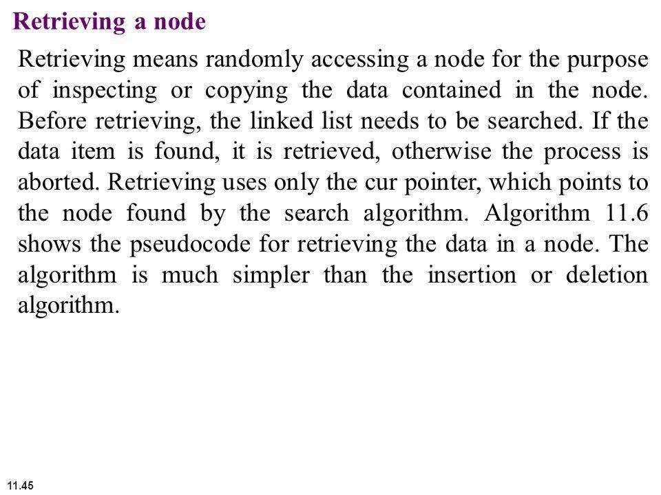 Retrieving a node