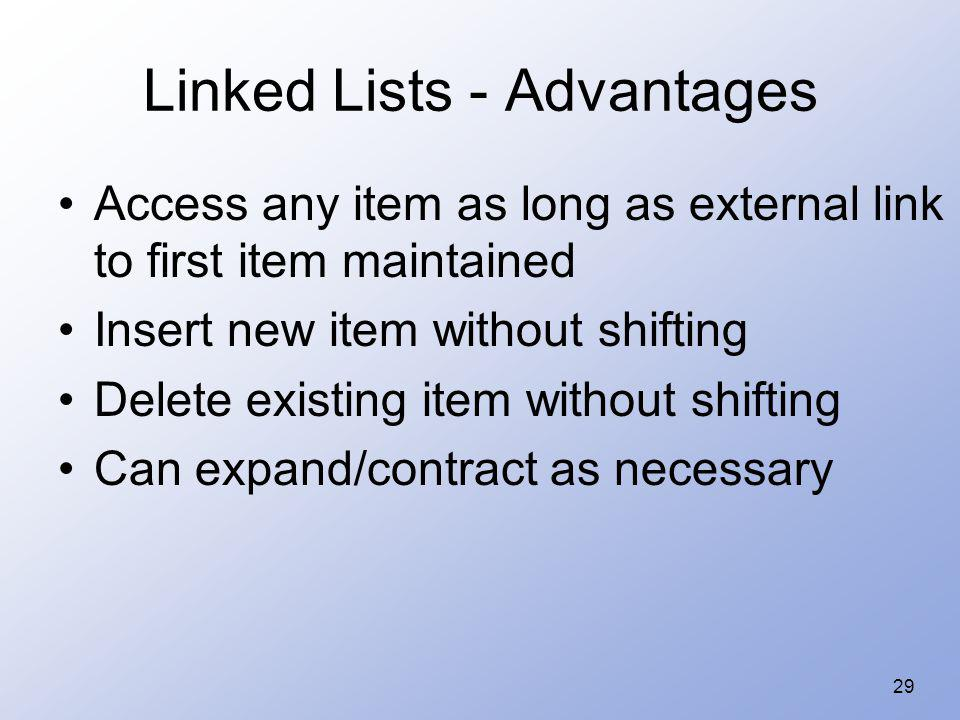 Linked Lists - Advantages