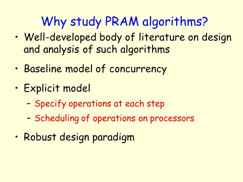 Why study PRAM algorithms