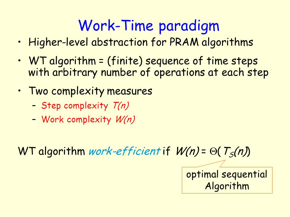 optimal sequential Algorithm