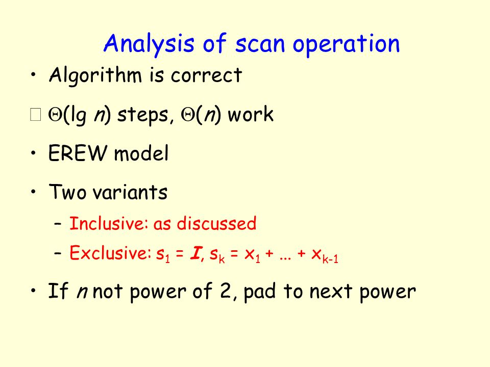 Analysis of scan operation