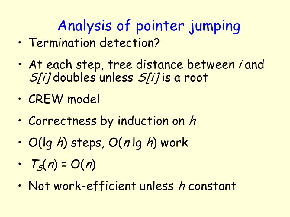 Analysis of pointer jumping