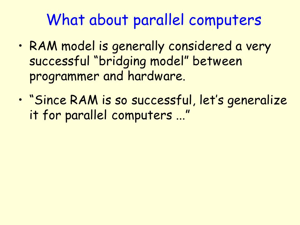 What about parallel computers