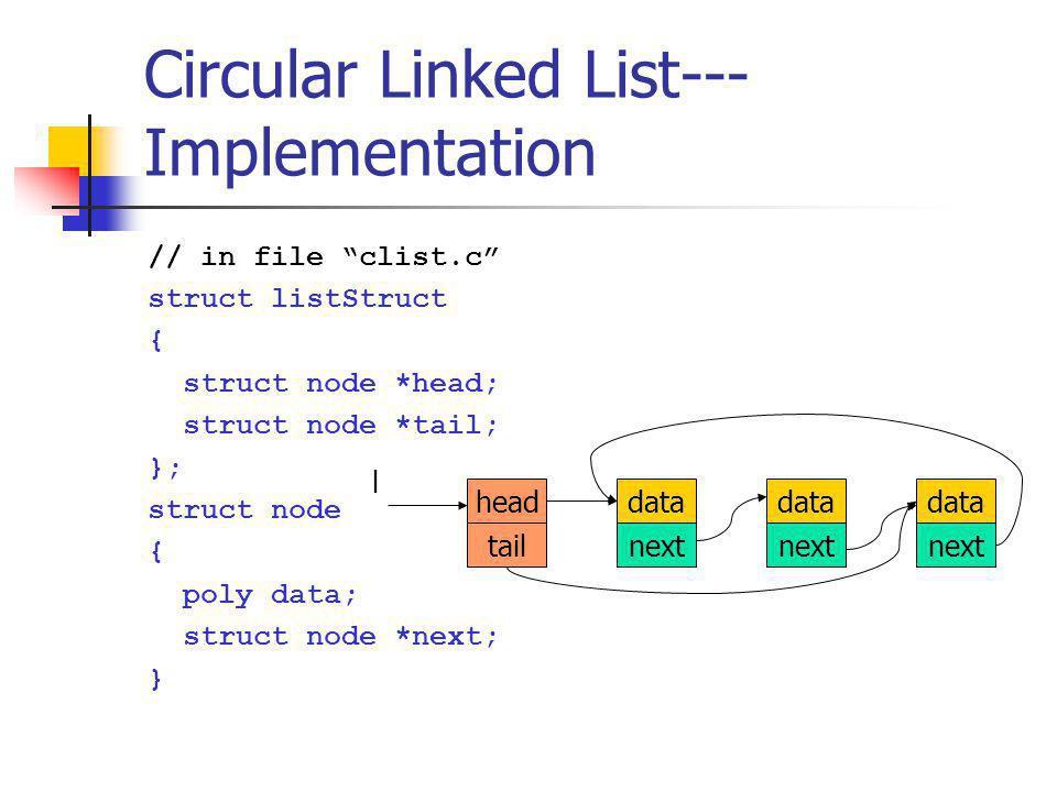 Circular Linked List---Implementation